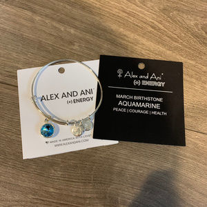Alex and Ani Aquamarine Birthstone Bracelet